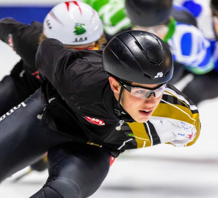 Victor Roy-Lafrance, un patineur de vitesse à surveiller