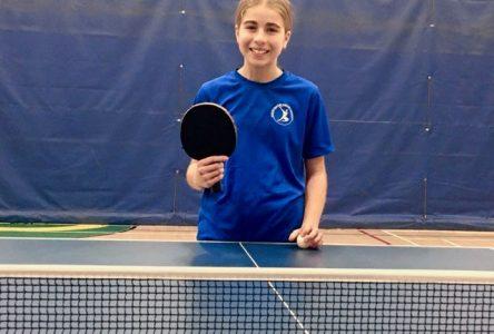 Tennis de table : NaïKa Leavy affrontera les meilleurs espoirs canadiens