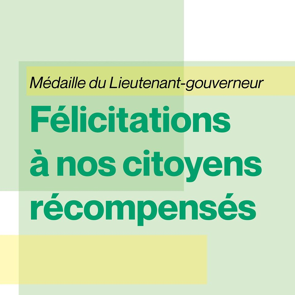 La Médaille du Lieutenant-gouverneur remise à 12 citoyens de Sainte-Julie