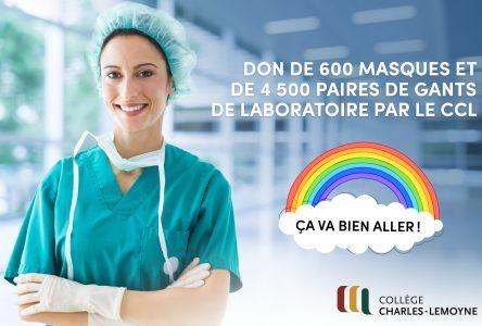 Le Collège Charles-Lemoyne offre 600 masques
