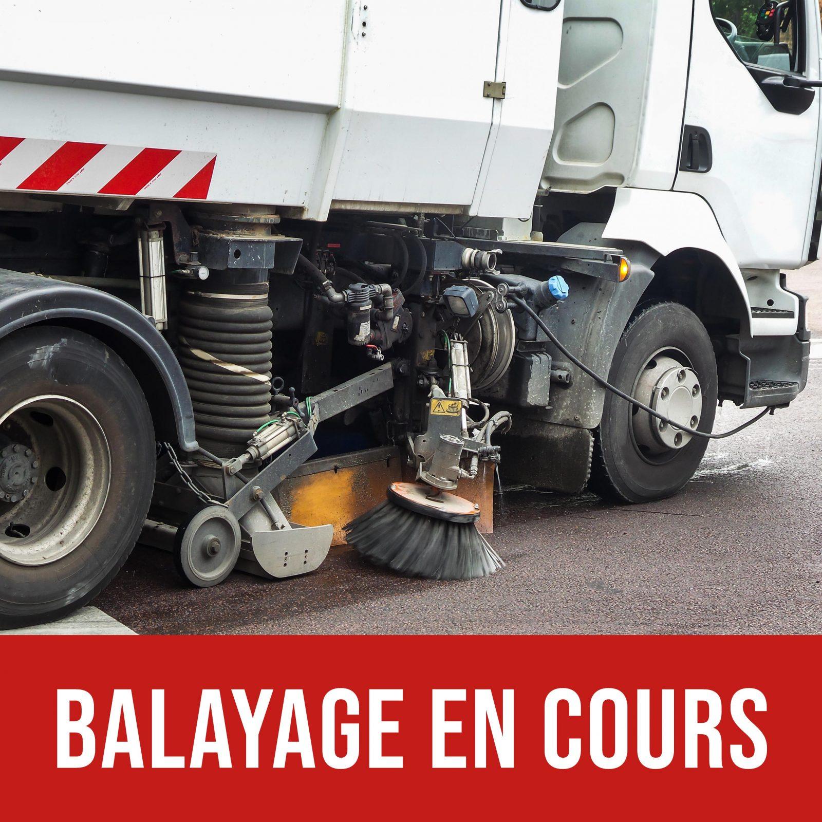 Balayage des rues en cours à Saint-Amable