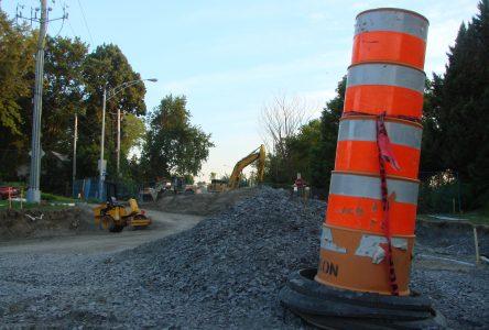 Travaux et chantiers dans les rues cet été : les cônes orange de retour à Boucherville