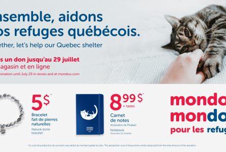 3 e édition de la campagne Mondou Mondon au profit des refuges
