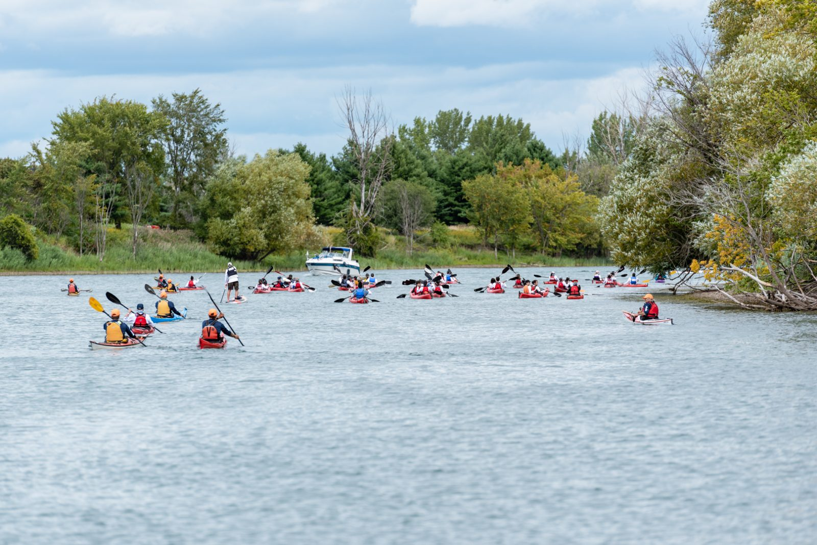 La 7e édition du Circuit bleu Charles-Bruneau attire 107 kayakistes