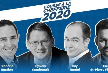 Les quatre candidats à la chefferie du Parti Québécois de passage à Varennes le 9 septembre prochain.