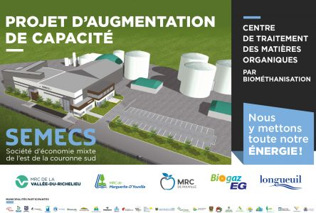Traitement des matières organiques de l'agglomération de Longueuil : les travaux d'agrandissement de l'usine de biométhanisation de la SÉMECS commencent !