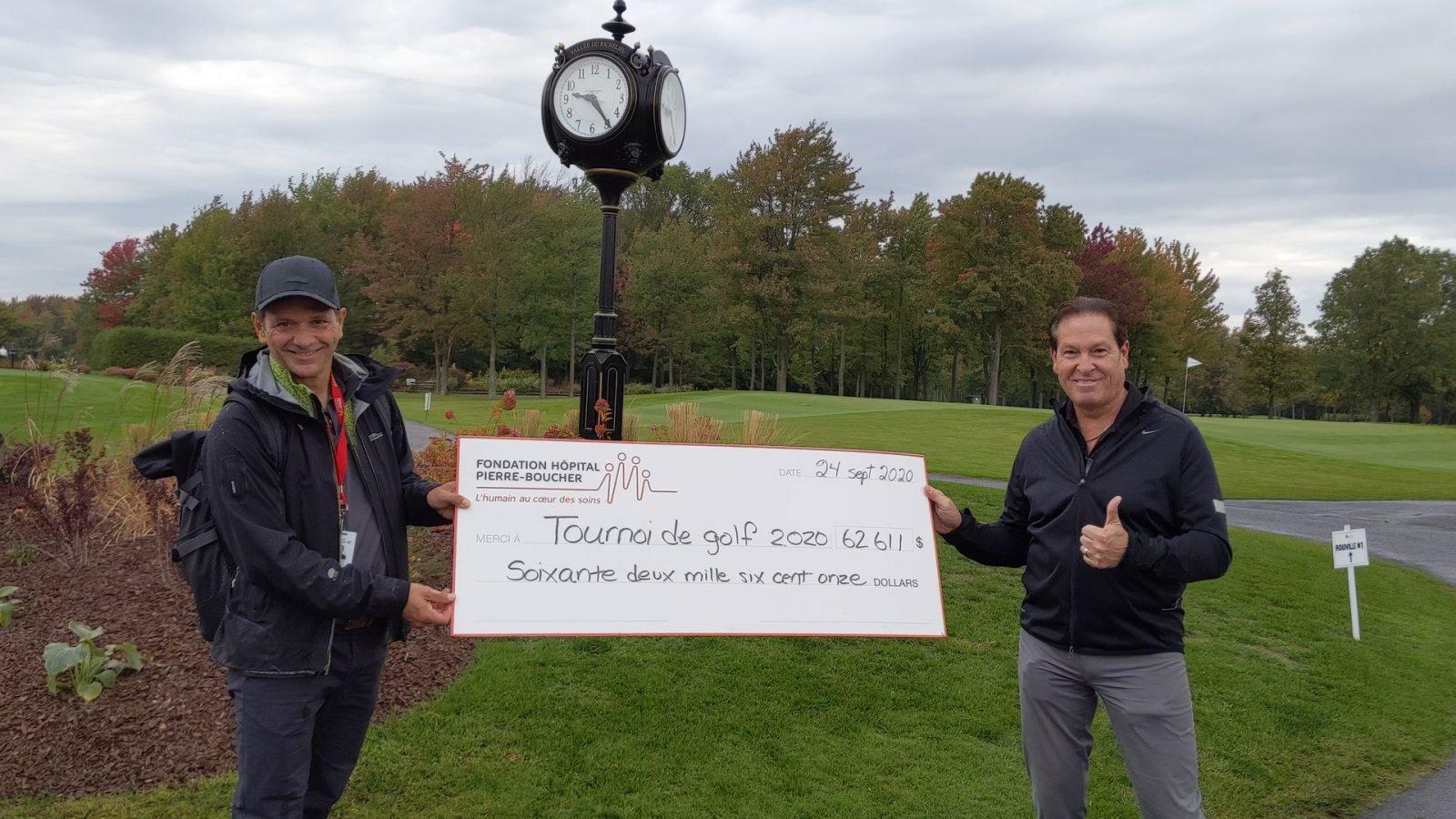 Le 31e tournoi de golf de la Fondation Hôpital Pierre-Boucher rapporte 62 000 $