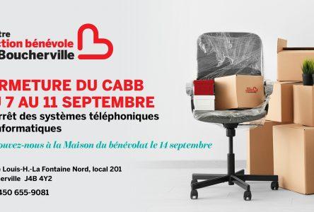 Le Centre d'action bénévole de Boucherville ferme temporairement