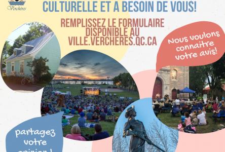 La Municipalité de Verchères se dote d'une politique culturelle et a besoin de l'opinion de ses citoyens!