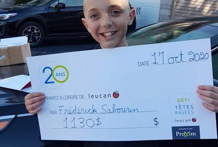 À 11 ans, Frédérick relève le Défi têtes rasées de Leucan