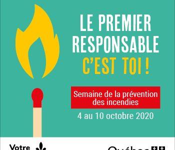 La Semaine de la prévention des incendies se déroulera du 4 au 10 octobre
