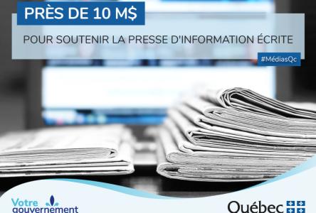 Québec octroie près de 10 M$ pour soutenir la presse d'information écrite