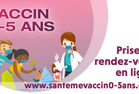 Vaccination pour les enfants de 0-5 ans : nouveau service de prise de rendez-vous en ligne