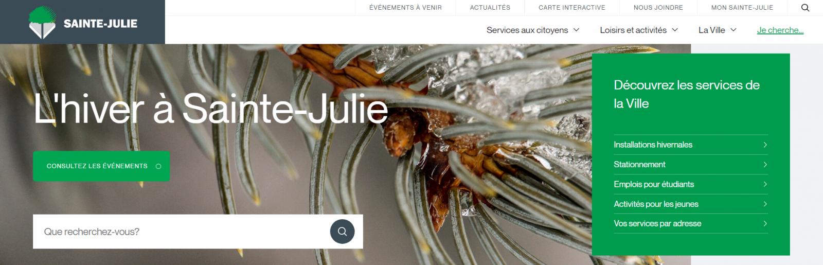 Des modifications au site Web de Sainte-Julie pour améliorer l'expérience des citoyens