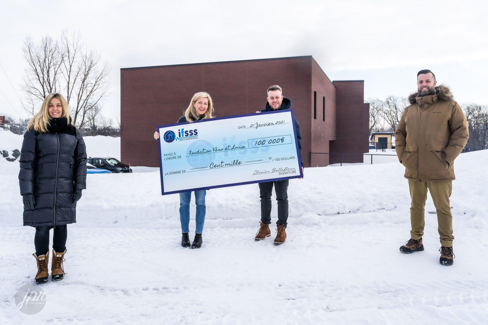Un don de 100000 $ pour la Fondation Véro & Louis et une ouverture en 2021