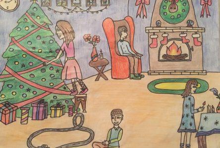 Concours de dessins de Noël: les jeunes de Boucherville et leurs rêves du temps des fêtes