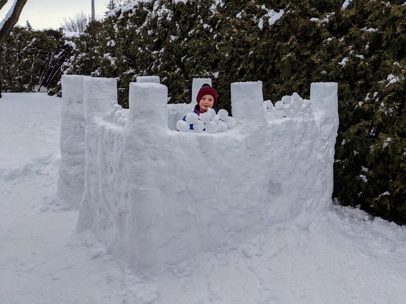 Défi château de neige : les architectes de la neige sont à Boucherville