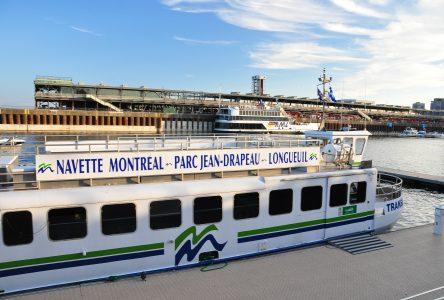 La navette fluviale entre Longueuil et Montréal « prend l'eau » !