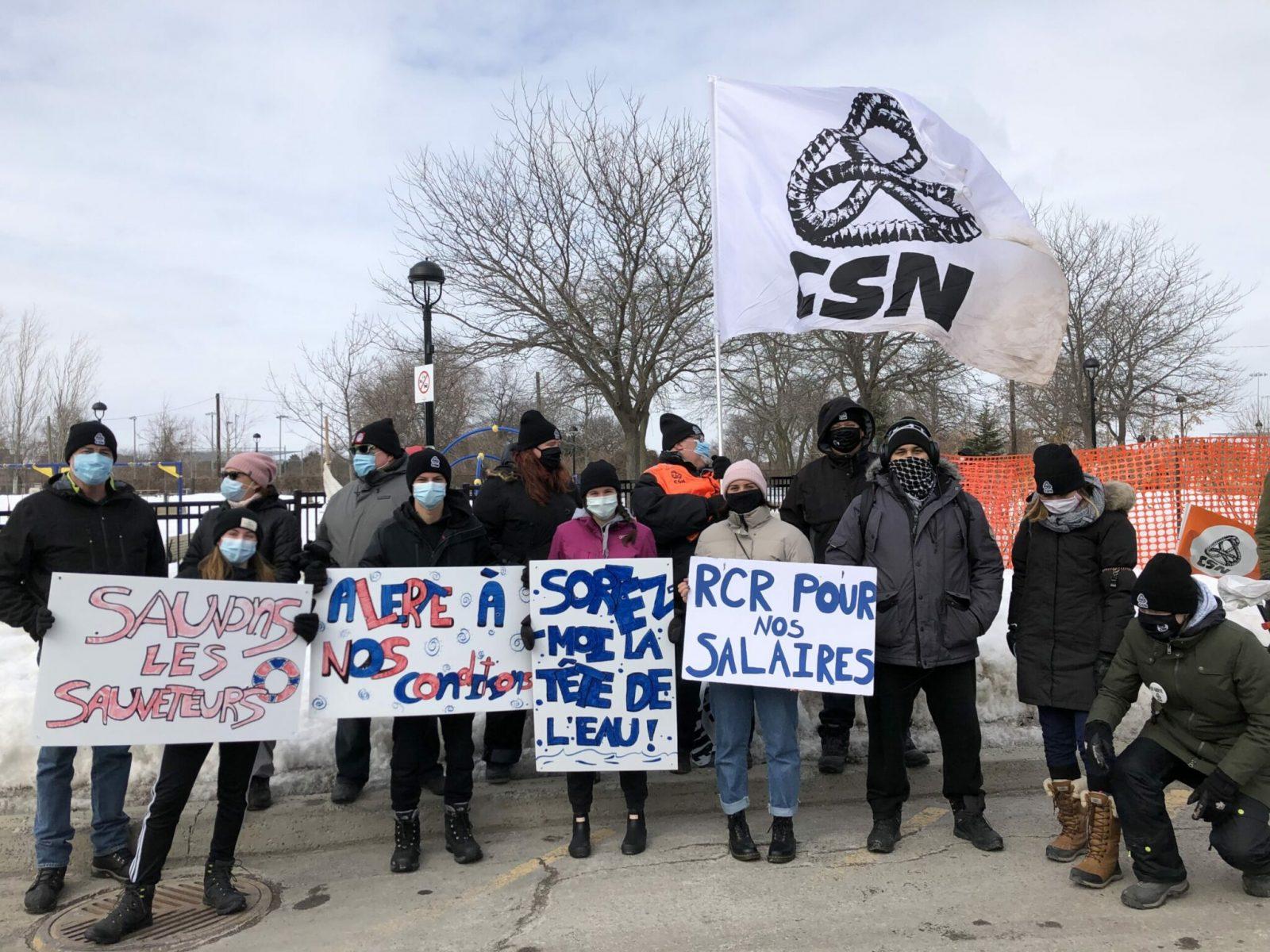 La grève des sauveteurs se poursuit au Complexe aquatique de Varennes