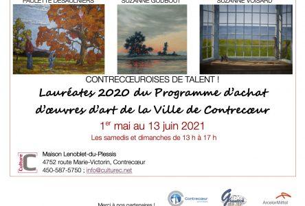 Une exposition pour trois Contrecoeuroises de talent du 1er mai au 13 juin