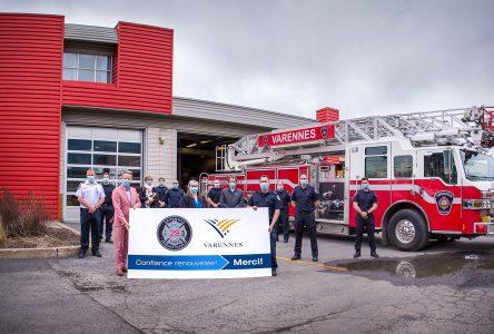 Nouveau contrat de travail pour les pompiers à la Ville de Varennes