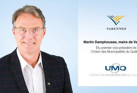 Martin Damphousse élu premier vice-président de l'Union des municipalités