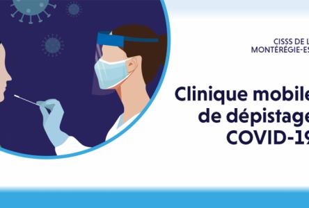 Clinique mobile de dépistage à Contrecoeur le 12 mai