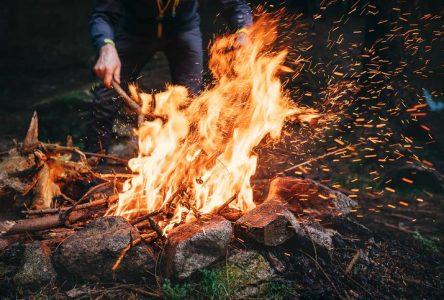 Levée totale de l'interdiction de faire des feux à ciel ouvert en forêt ou à proximité