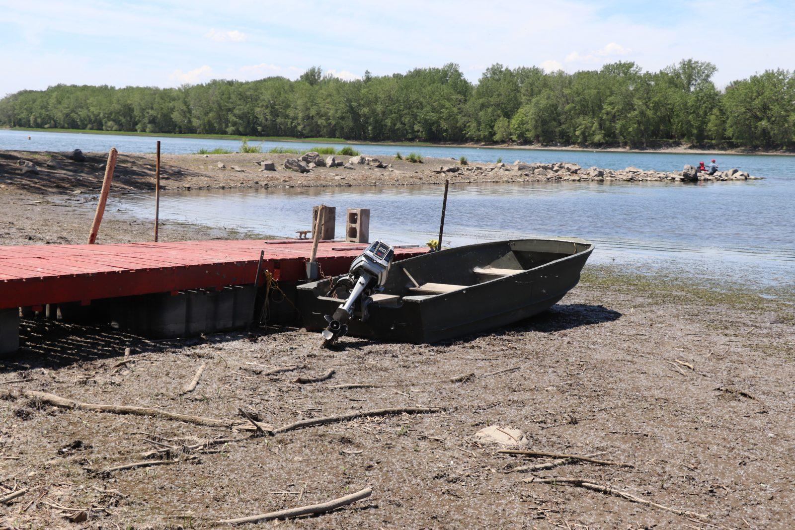 Le bas niveau du fleuve Saint-Laurent devient inquiétant