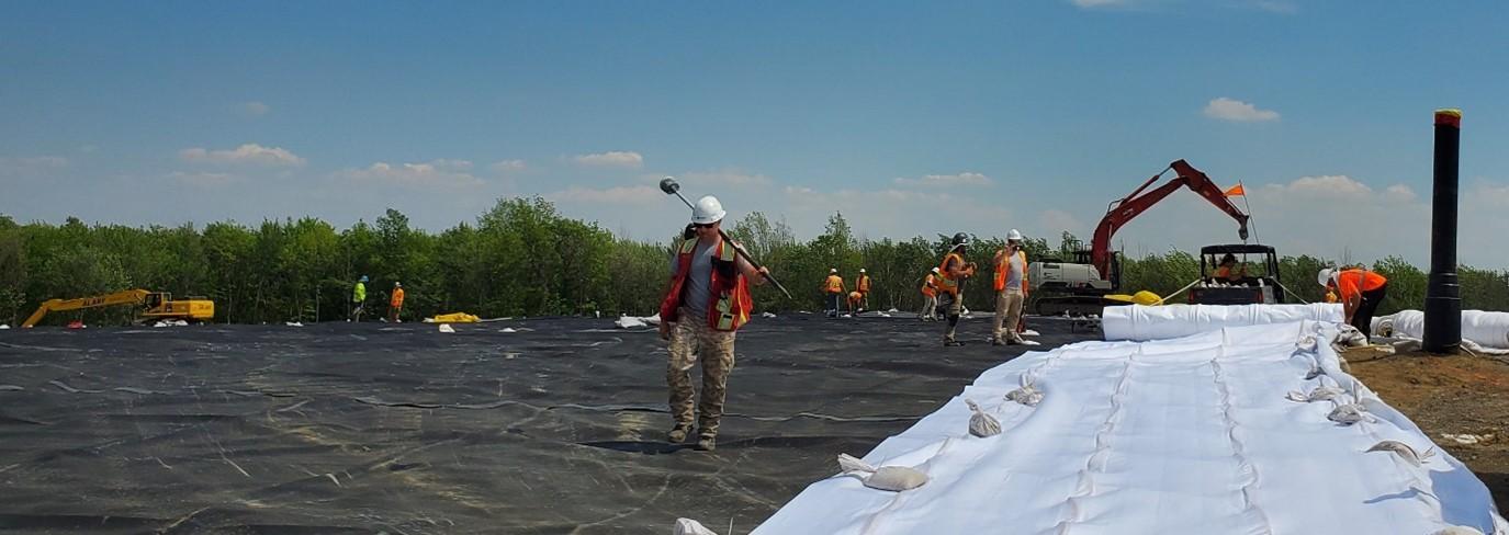 Réhabilitation du site Les carrières Rive-Sud : les  travaux de sécurisation des déchets dangereux ont commencé
