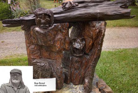 Les sculptures d'André Derouin et de Roger Renaud à Nature et Création