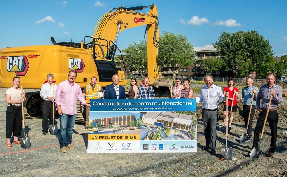 Première pelletée de terre du Centre multifonctionnel de Varennes: une privatisation qui fait réagir