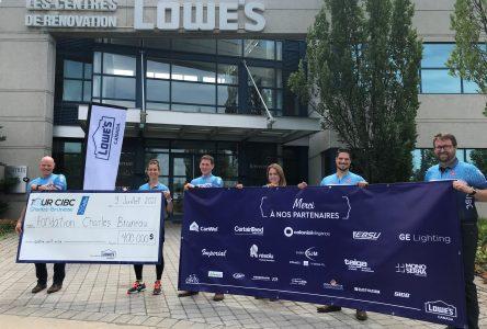 Lowe's remet 400 000 $ en marge du 25e Tour CIBC Charles-Bruneau
