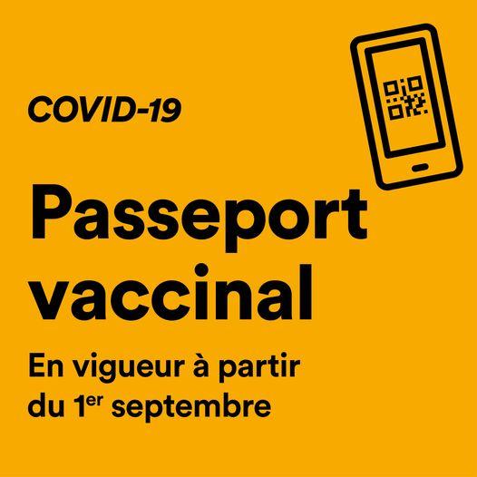 Sainte-Julie exigera le passeport vaccinal dans la majorité de ses activités à compter du 1er septembre