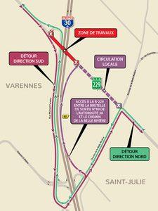 Réfection du pont d'étagement de la route 229 entre Sainte-Julie et Varennes