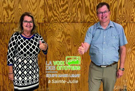 La Voix des citoyens – Équipe Mario Lemay occupe le terrain à Sainte-Julie