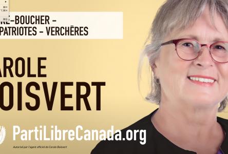 Les quatre actions prioritaires de Carole Boisvert au sein Parti Libre Canada