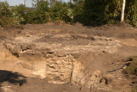 La fondation découverte par les archéologues