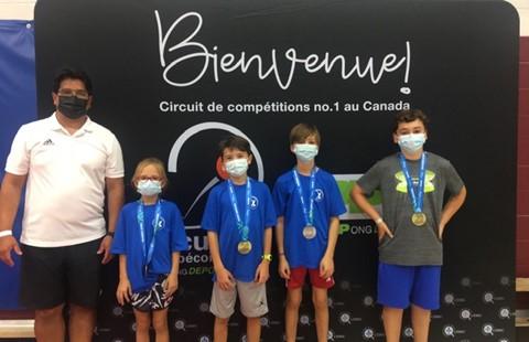 Des pongistes de Boucherville remportent plusieurs médailles