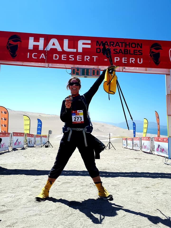 Une Bouchervilloise court 120 km dans le désert du Pérou