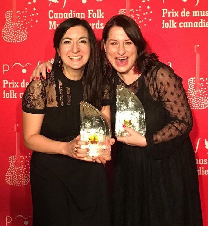 Le duo Ancolie se distingue aux Prix de musique folk canadienne
