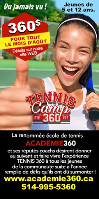 Academie360 Tennis camp été 2021